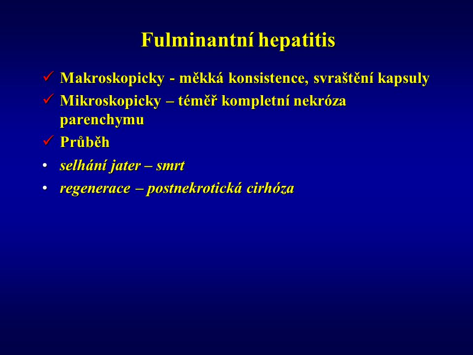 Fulminantní hepatitis