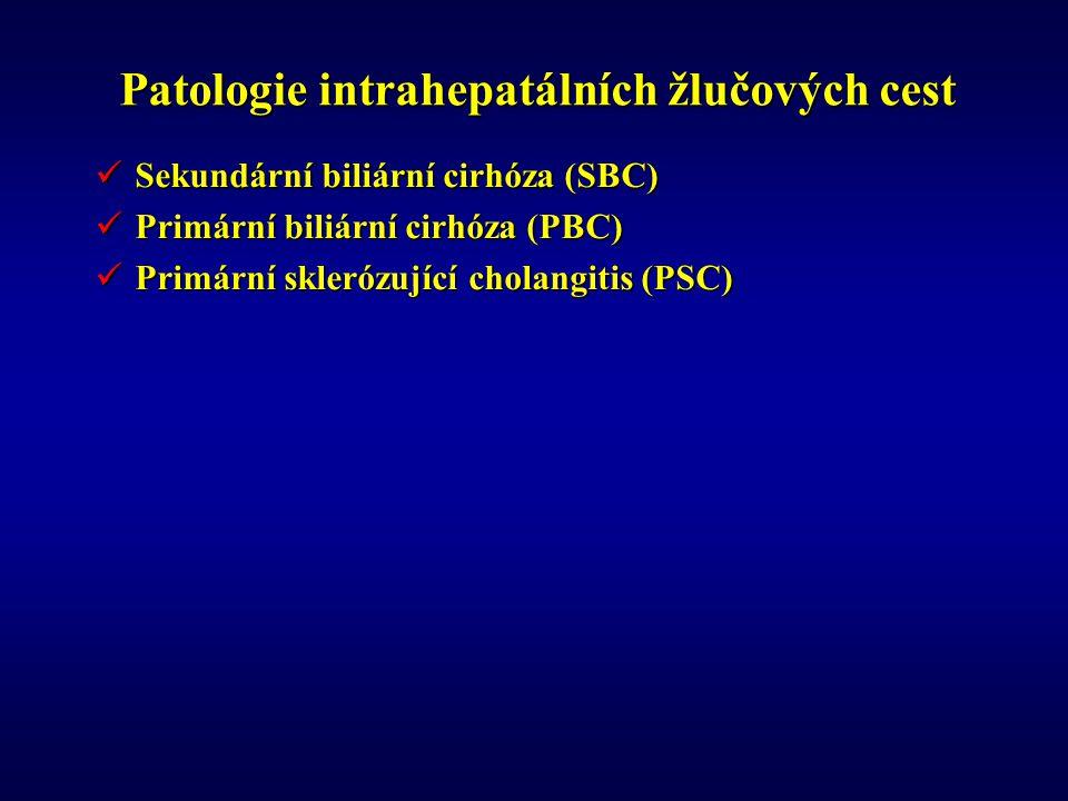 Patologie intrahepatálních žlučových cest