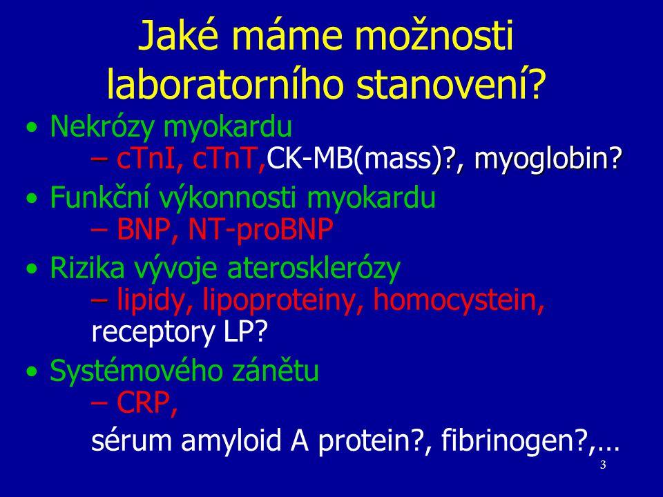 Jaké máme možnosti laboratorního stanovení
