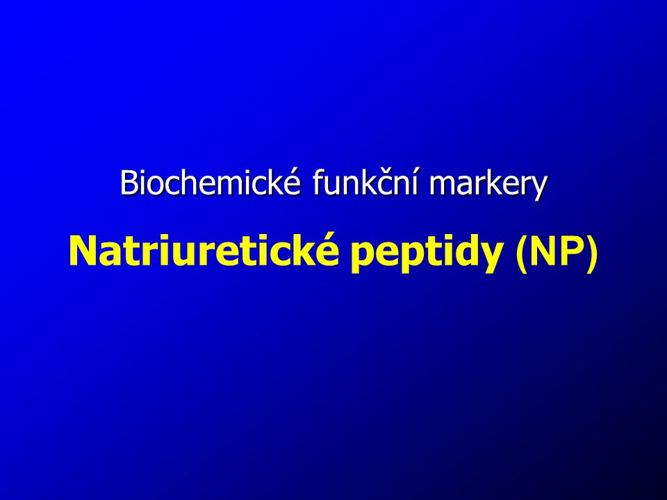 Natriuretické peptidy (NP)