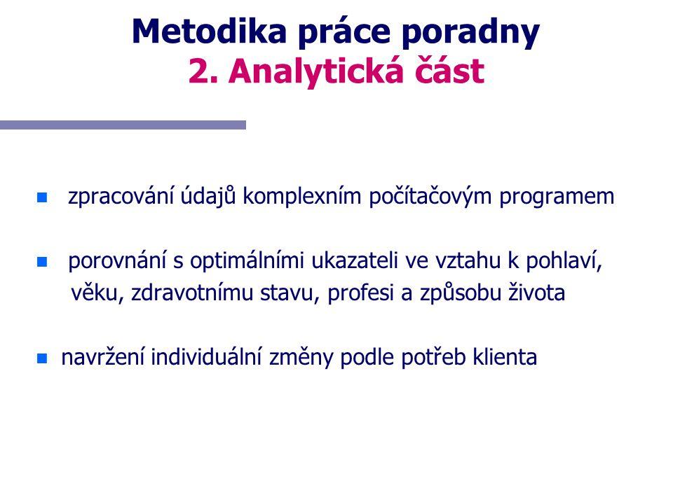 Metodika práce poradny 2. Analytická část