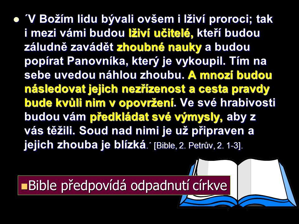 Bible předpovídá odpadnutí církve