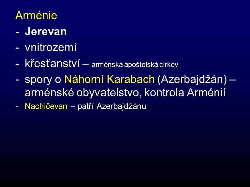 křesťanství – arménská apoštolská církev