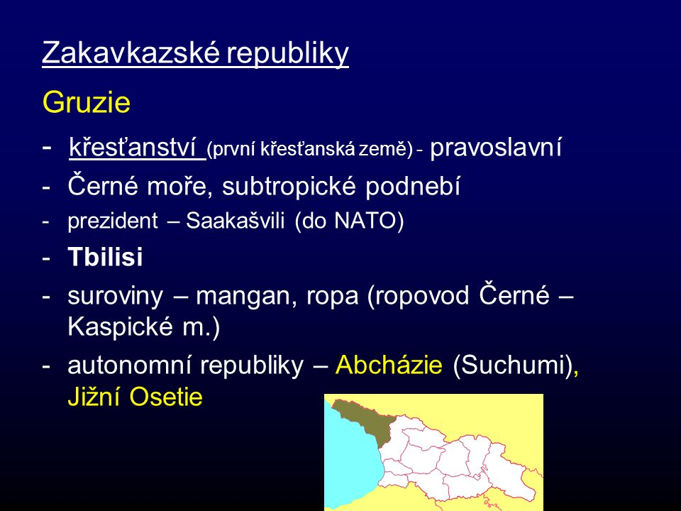 Zakavkazské republiky Gruzie