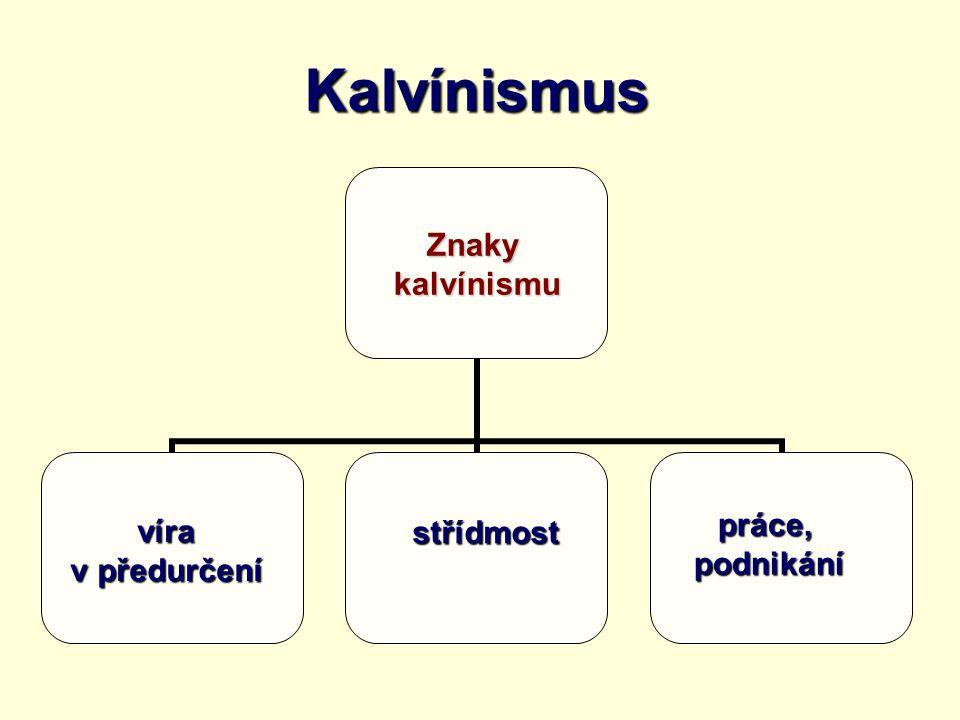 Kalvínismus práce, podnikání víra v předurčení střídmost