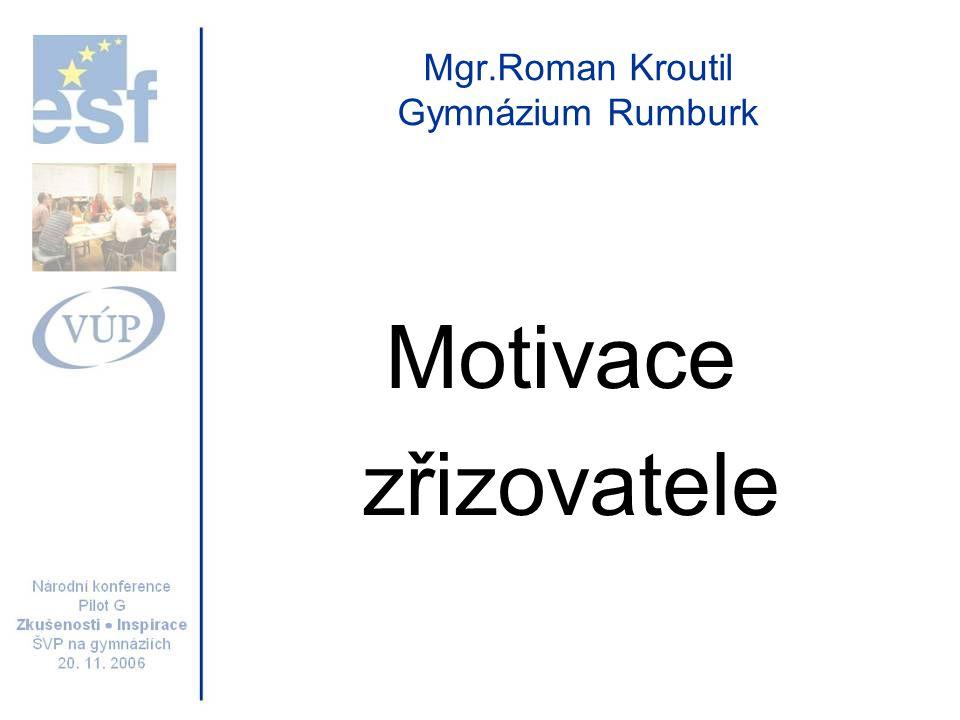 Mgr.Roman Kroutil Gymnázium Rumburk