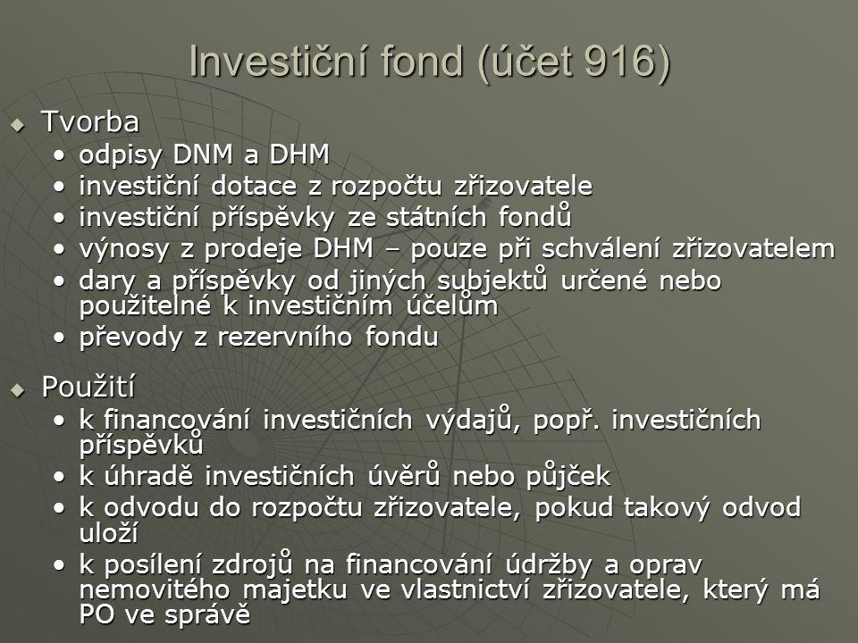 Investiční fond (účet 916)