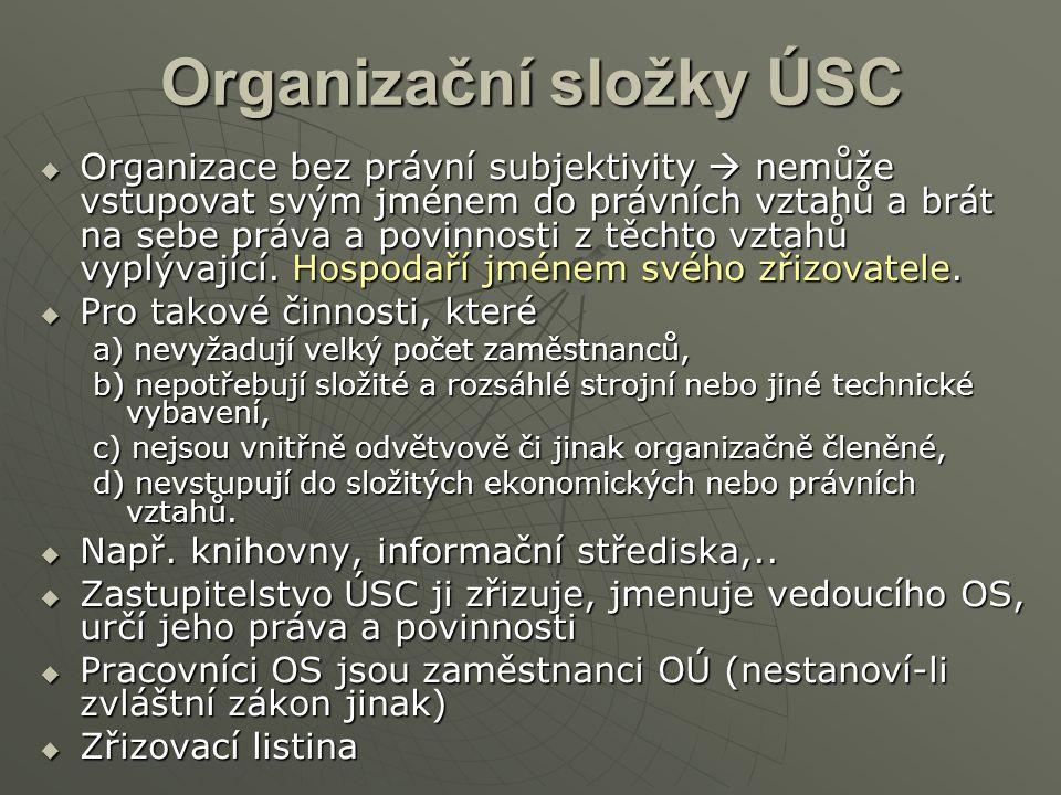 Organizační složky ÚSC
