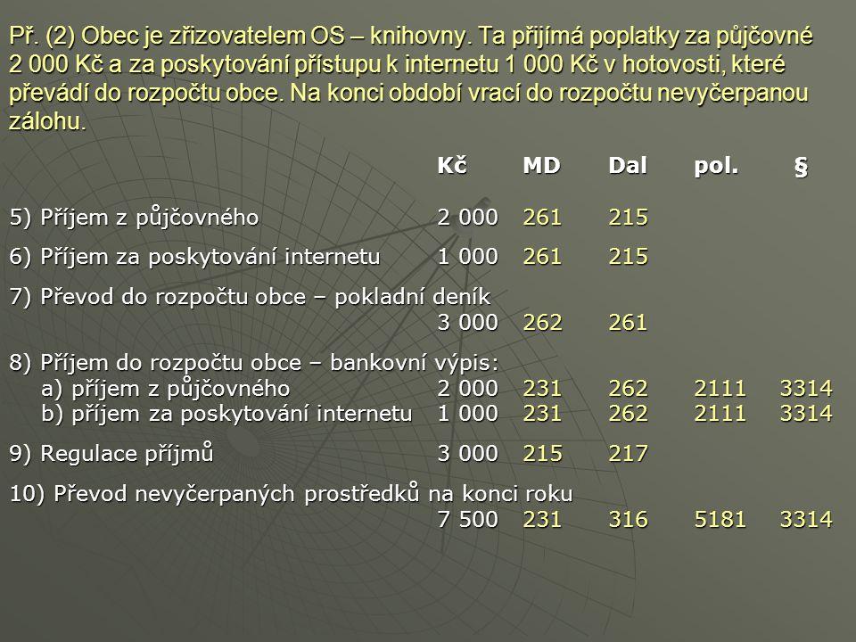 Př. (2) Obec je zřizovatelem OS – knihovny