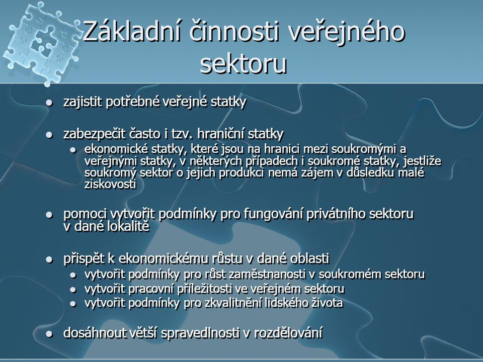 Základní činnosti veřejného sektoru
