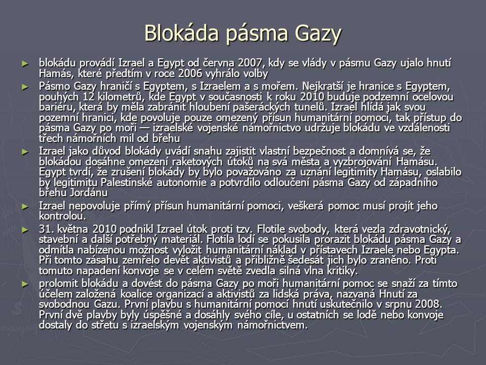 Blokáda pásma Gazy