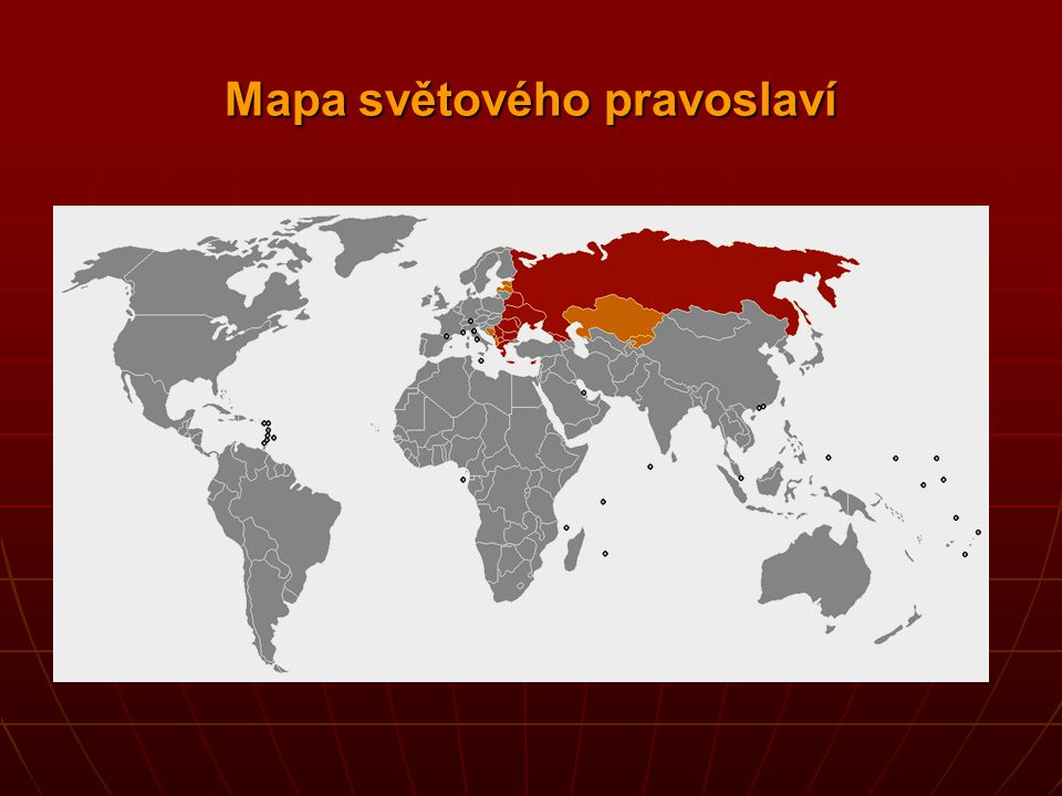 Mapa světového pravoslaví