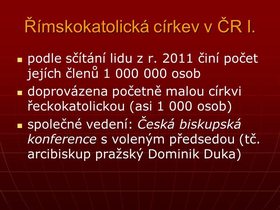 Římskokatolická církev v ČR I.