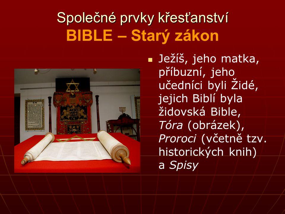 Společné prvky křesťanství BIBLE – Starý zákon