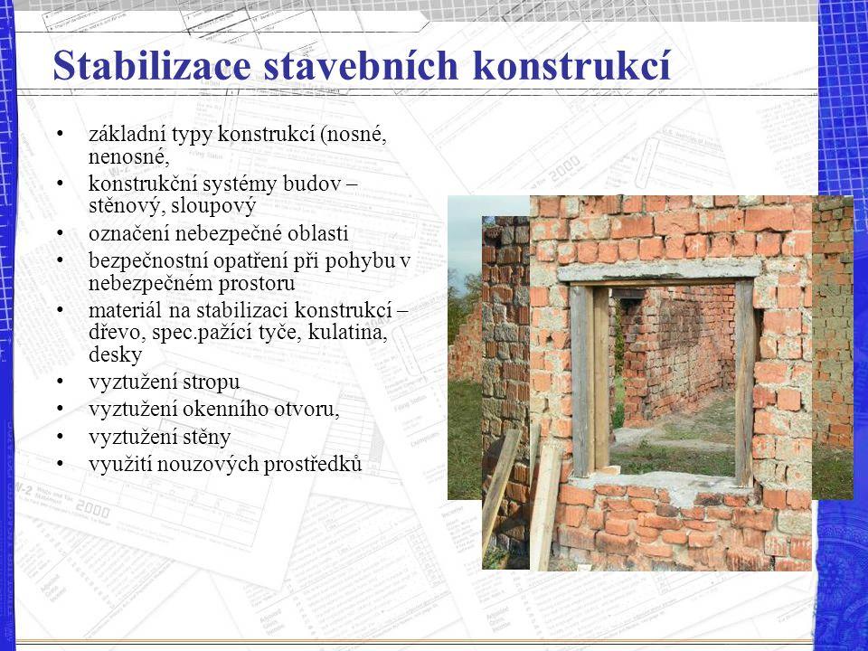 Stabilizace stavebních konstrukcí