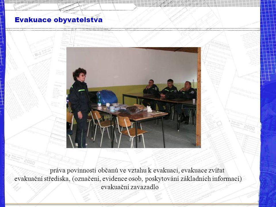 práva povinnosti občanů ve vztahu k evakuaci, evakuace zvířat