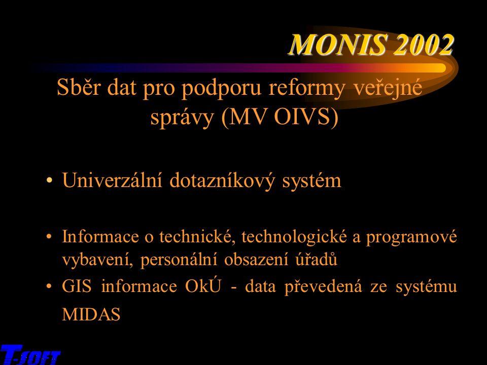 Sběr dat pro podporu reformy veřejné správy (MV OIVS)