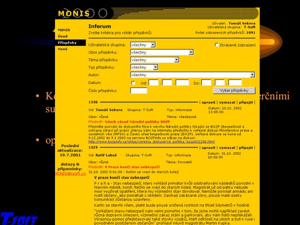 x MONIS 2003 – přehled služeb Inforum
