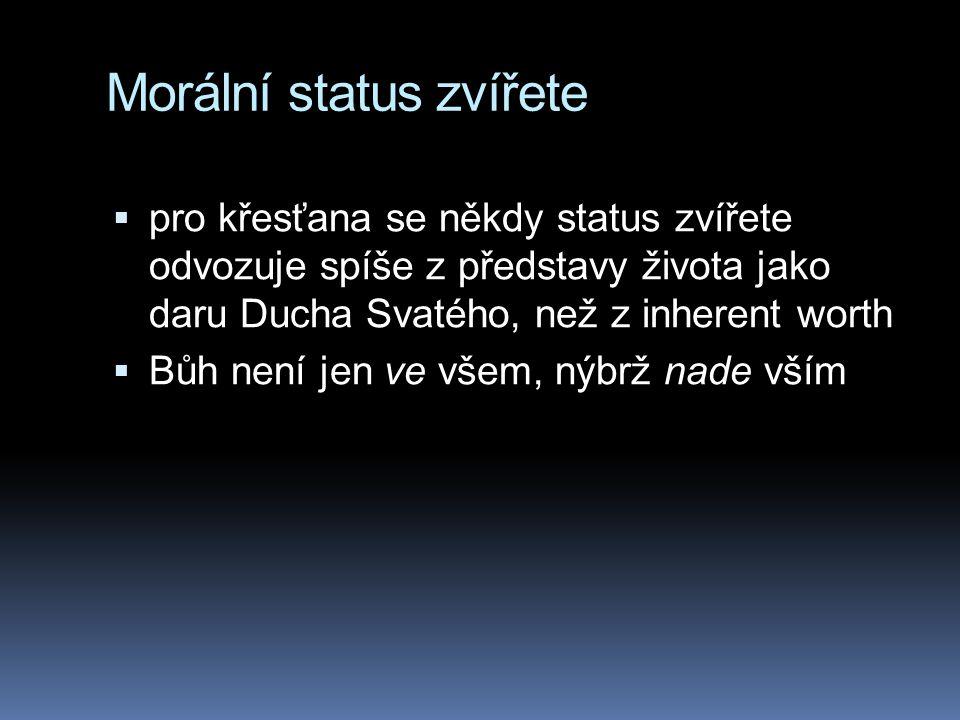 Morální status zvířete
