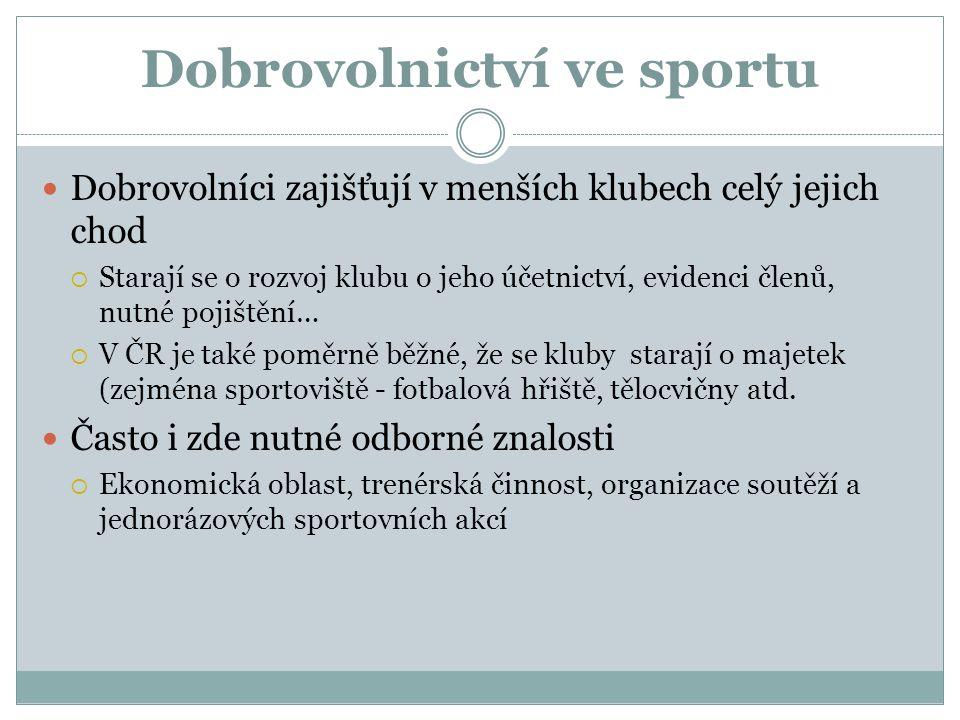 Dobrovolnictví ve sportu