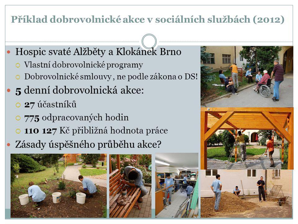 Příklad dobrovolnické akce v sociálních službách (2012)