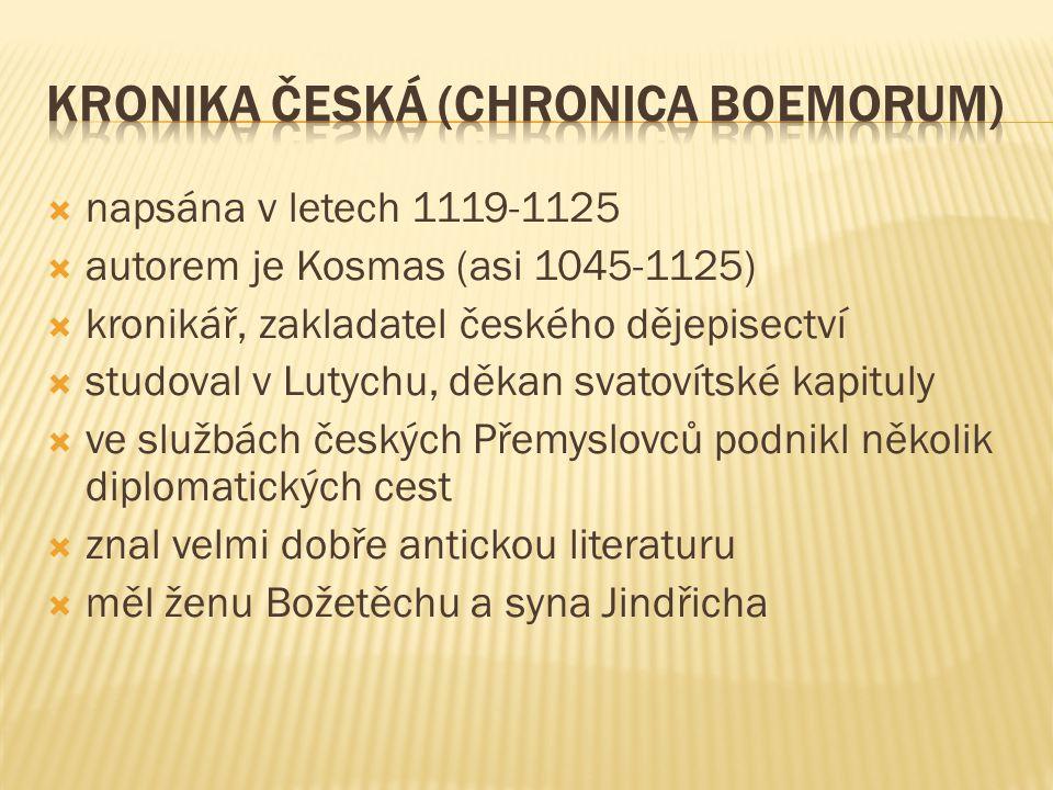 Kronika česká (Chronica Boemorum)
