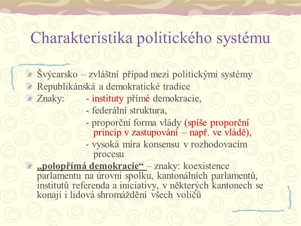 Charakteristika politického systému
