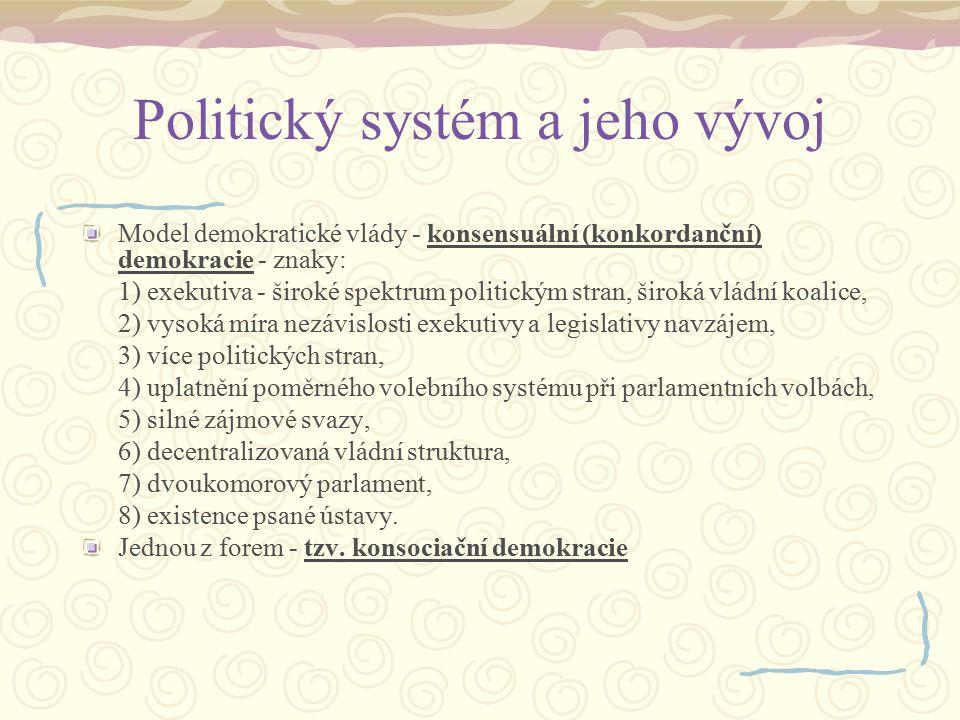 Politický systém a jeho vývoj