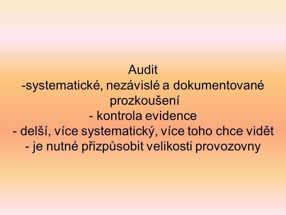 systematické, nezávislé a dokumentované prozkoušení