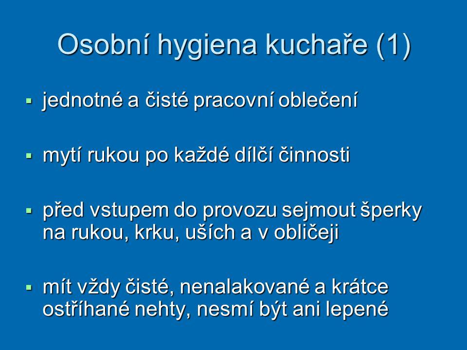 Osobní hygiena kuchaře (1)