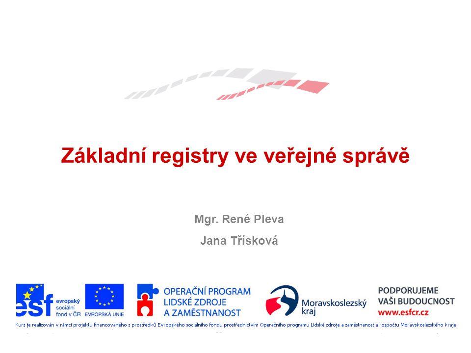 Základní registry ve veřejné správě