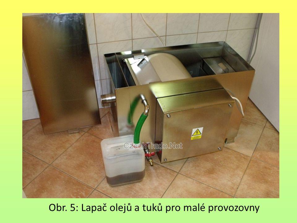 Obr. 5: Lapač olejů a tuků pro malé provozovny