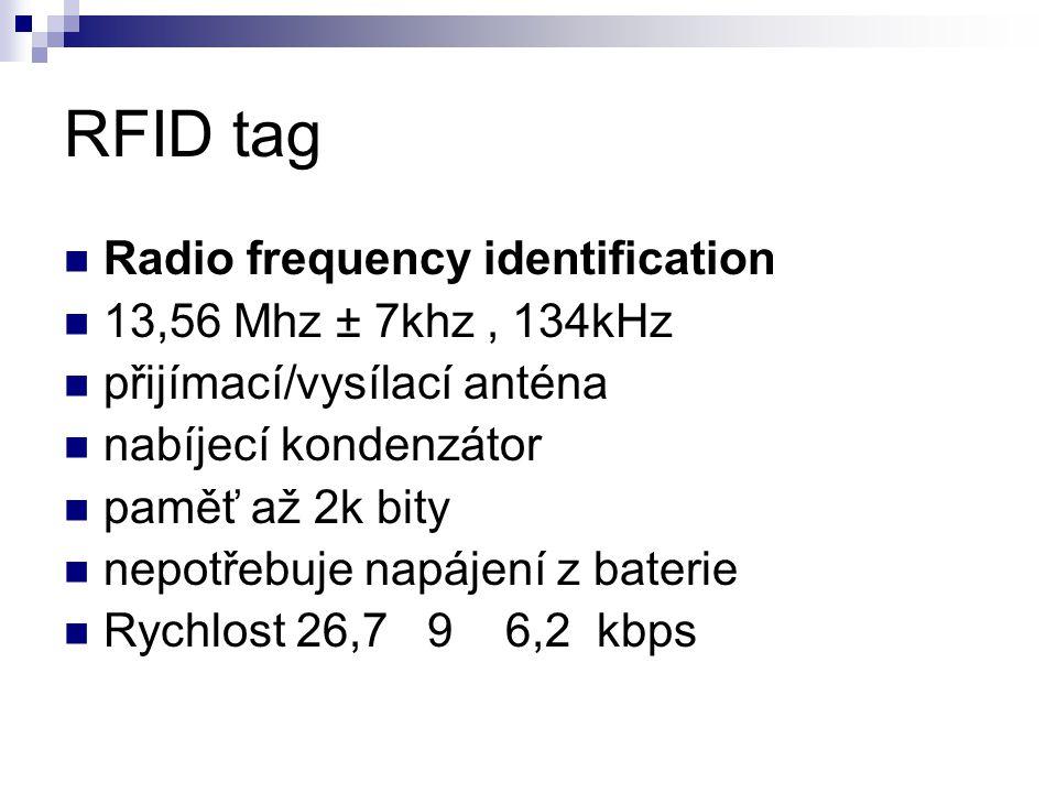 RFID tag Radio frequency identification 13,56 Mhz ± 7khz , 134kHz