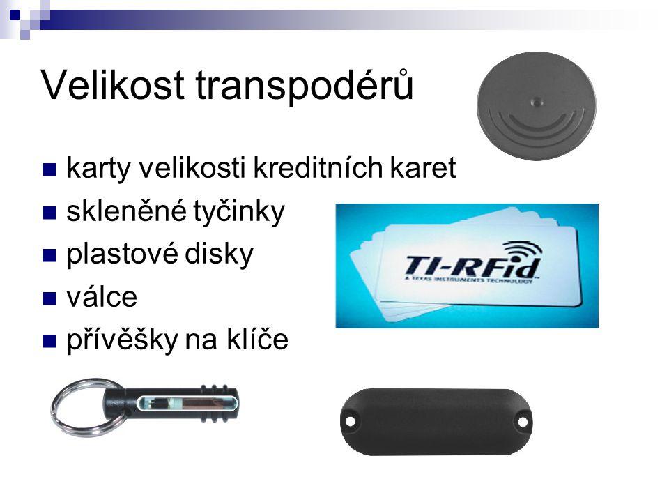 Velikost transpodérů karty velikosti kreditních karet skleněné tyčinky