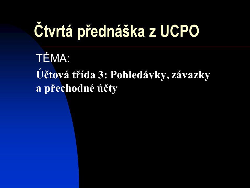 Čtvrtá přednáška z UCPO