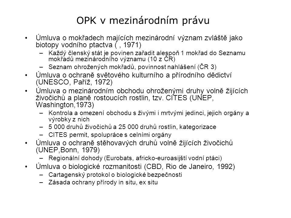 OPK v mezinárodním právu
