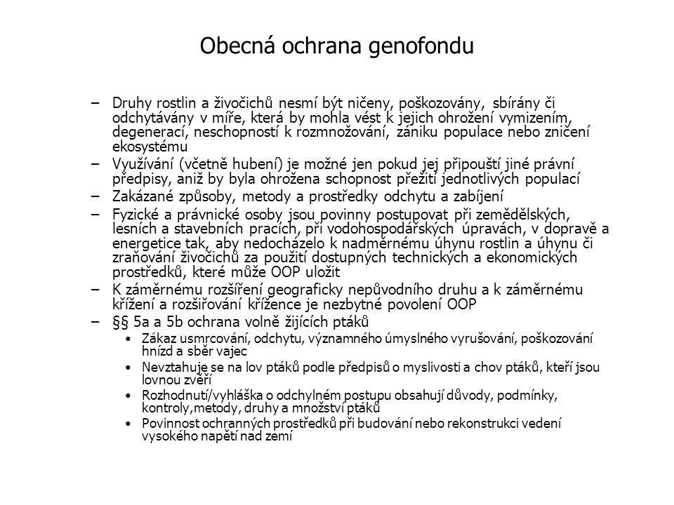 Obecná ochrana genofondu