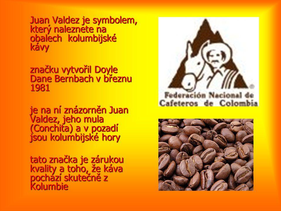 Juan Valdez je symbolem, který naleznete na obalech kolumbijské kávy