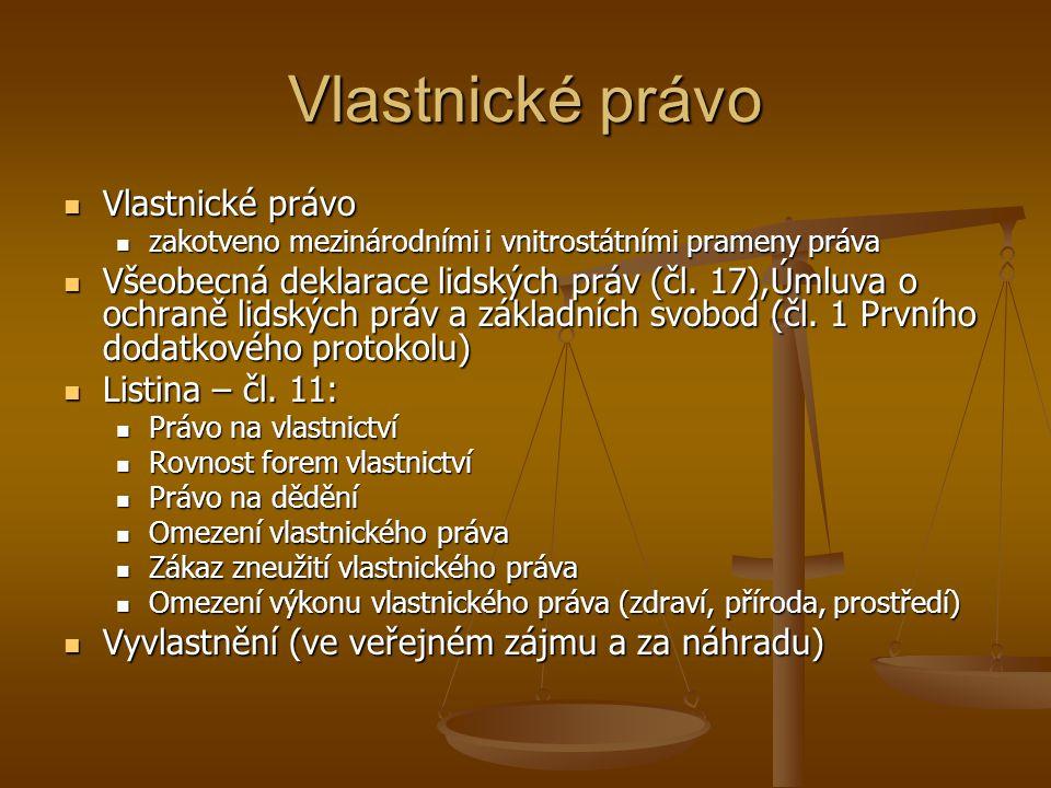 Vlastnické právo Vlastnické právo