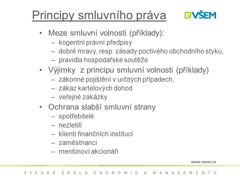 Principy smluvního práva