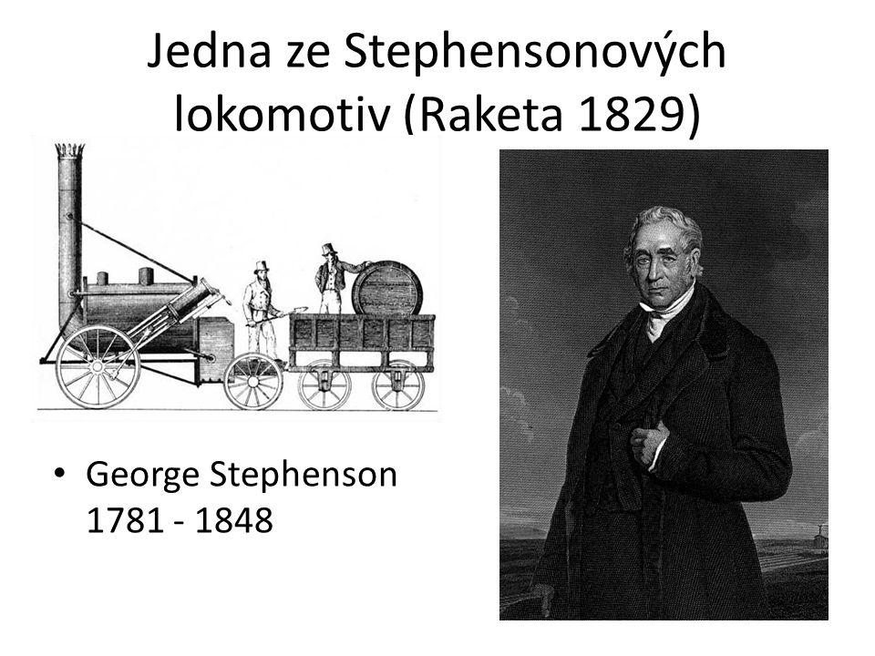 Jedna ze Stephensonových lokomotiv (Raketa 1829)
