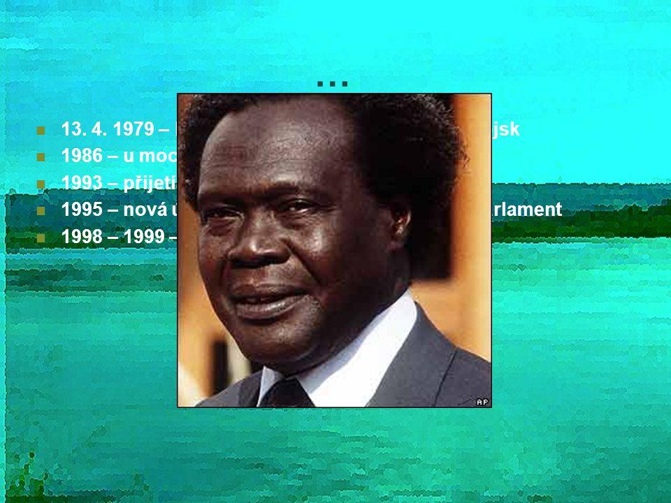 … 13. 4. 1979 – konec vlády, invaze tanzanských vojsk