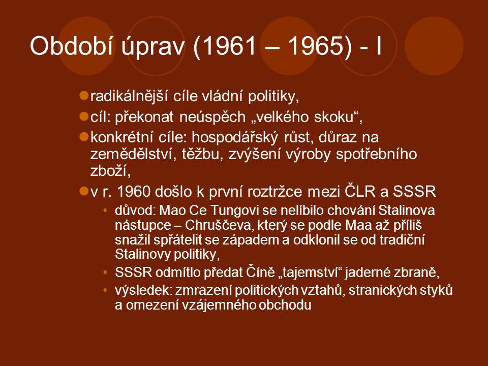 Období úprav (1961 – 1965) - I radikálnější cíle vládní politiky,