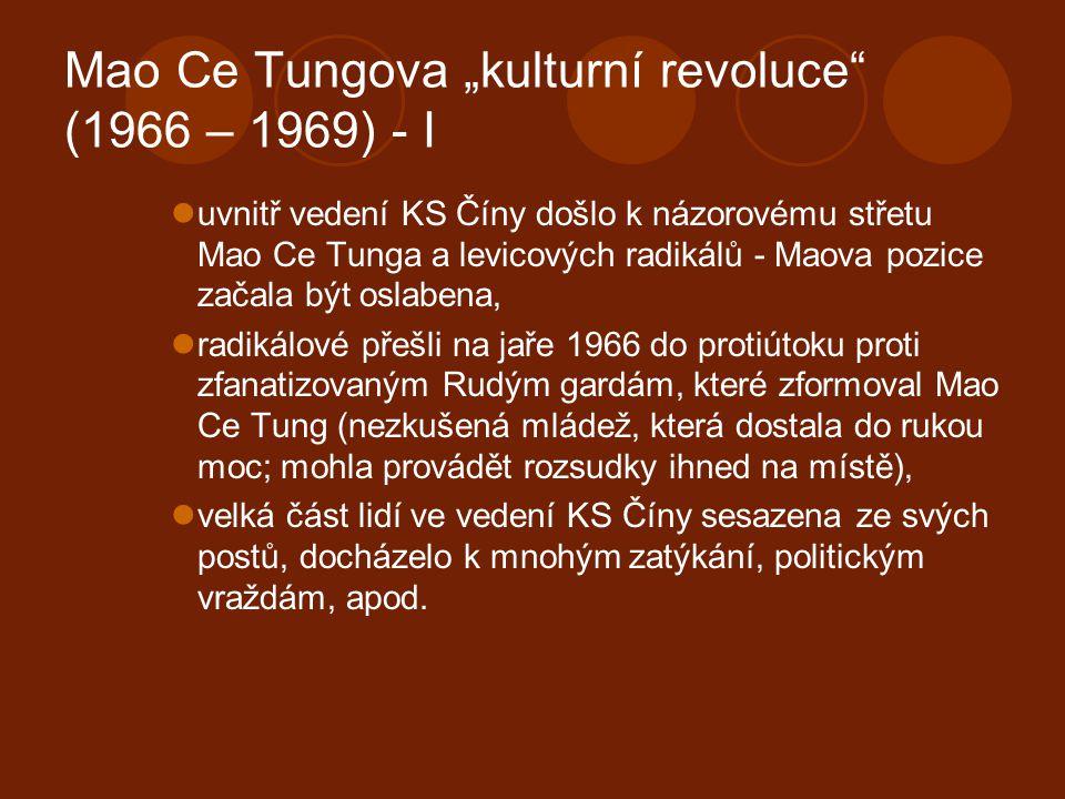 """Mao Ce Tungova """"kulturní revoluce (1966 – 1969) - I"""