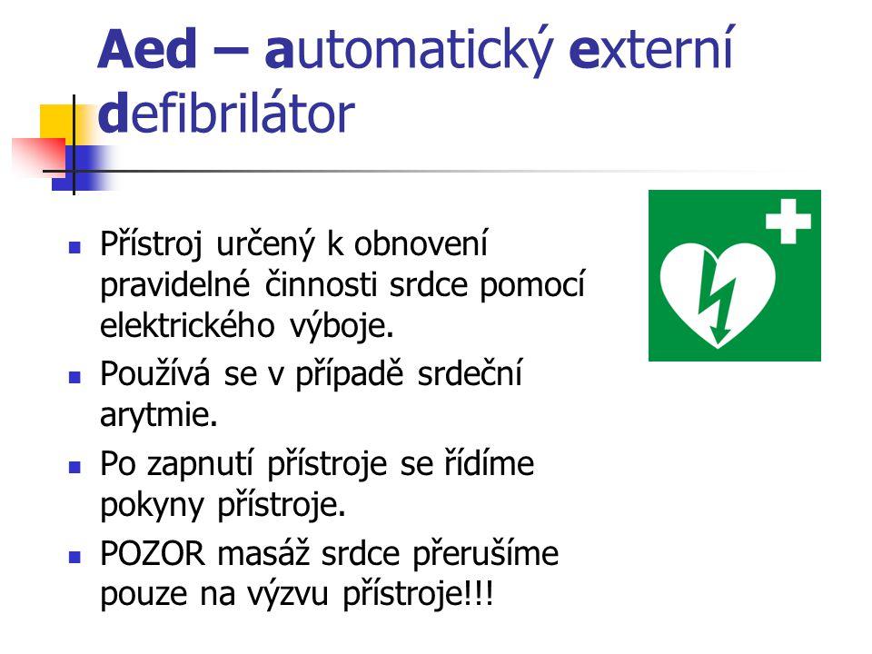 Aed – automatický externí defibrilátor