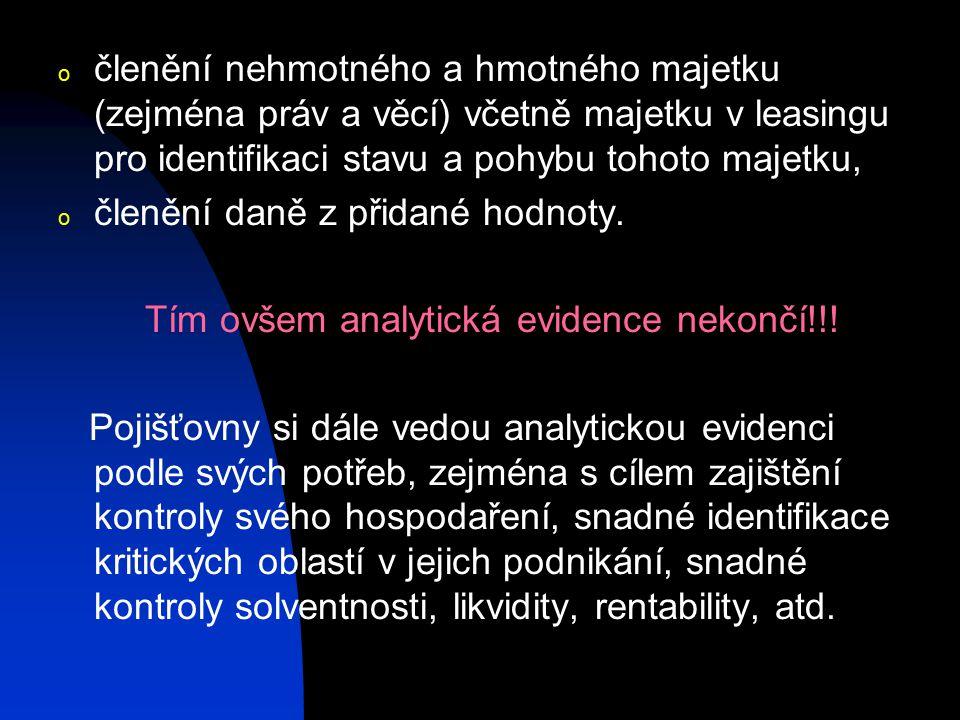 Tím ovšem analytická evidence nekončí!!!
