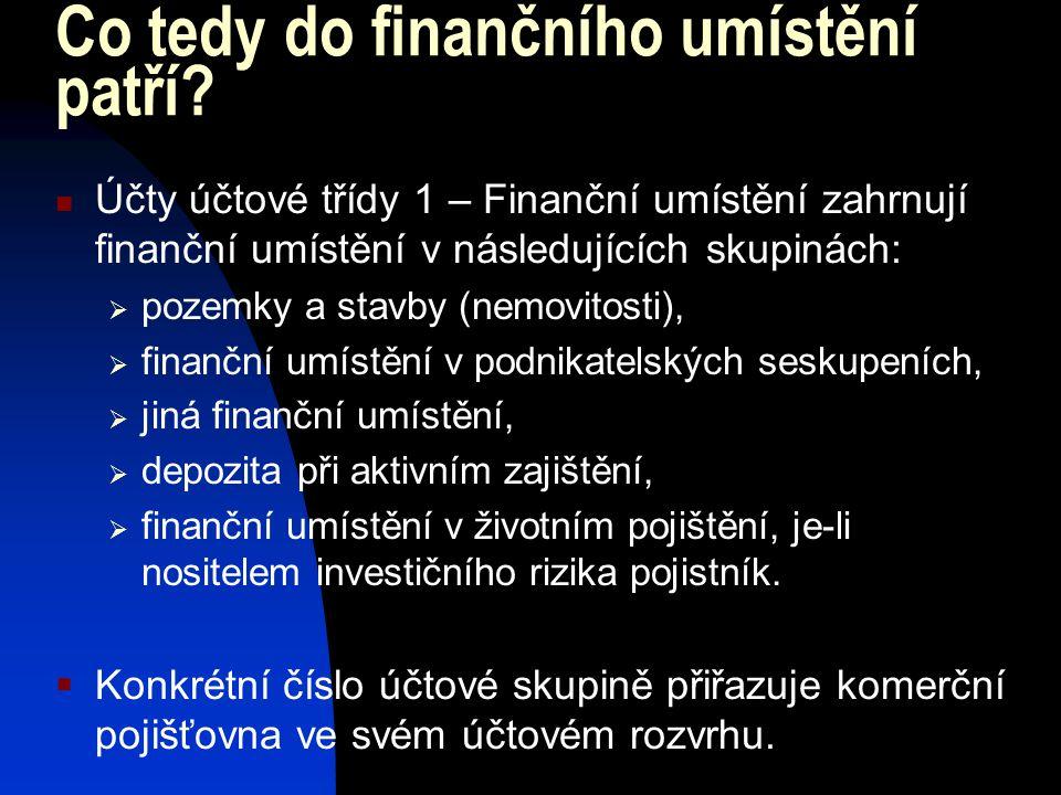 Co tedy do finančního umístění patří