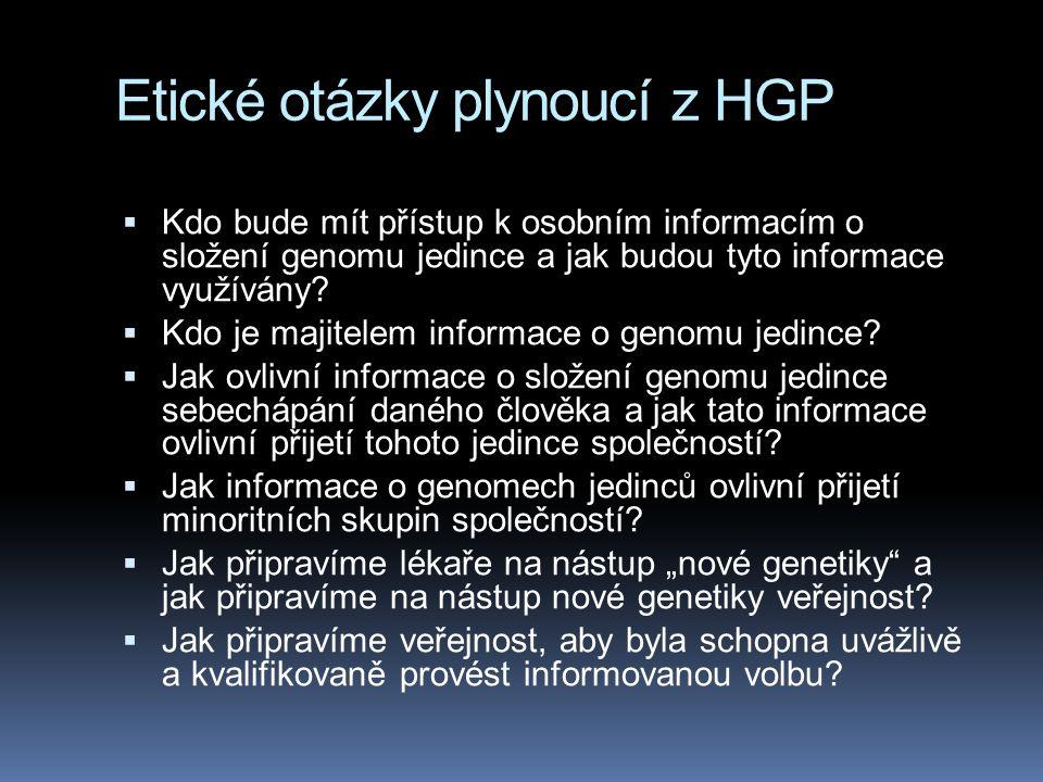 Etické otázky plynoucí z HGP