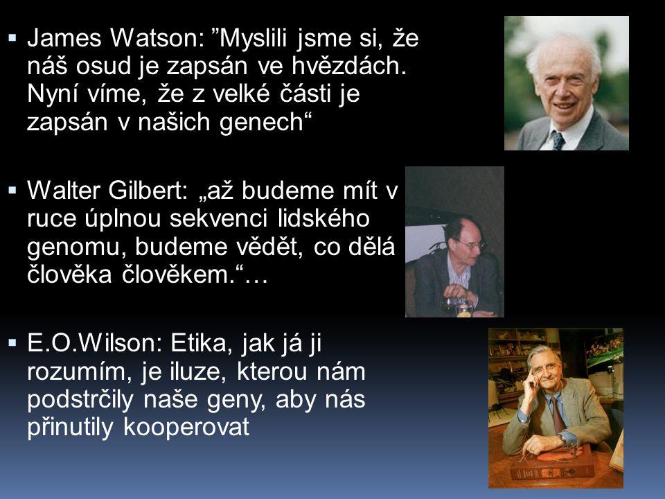 James Watson: Myslili jsme si, že náš osud je zapsán ve hvězdách