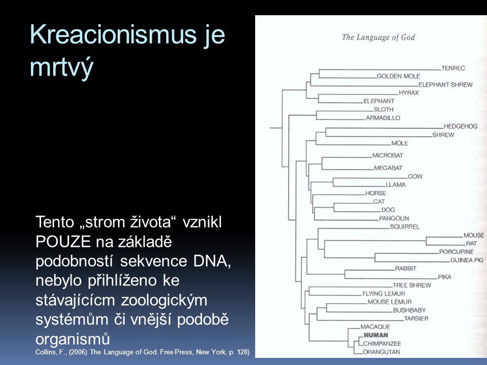 Kreacionismus je mrtvý